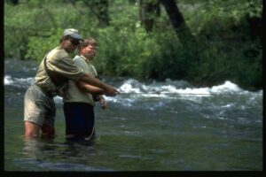 learning to cast a fly rod takes time