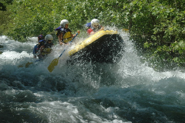 Cheoah River rafting splash