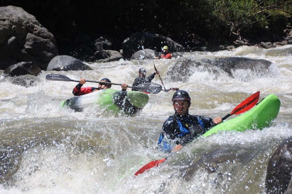 An amazing shot of kayaking in Ecuador