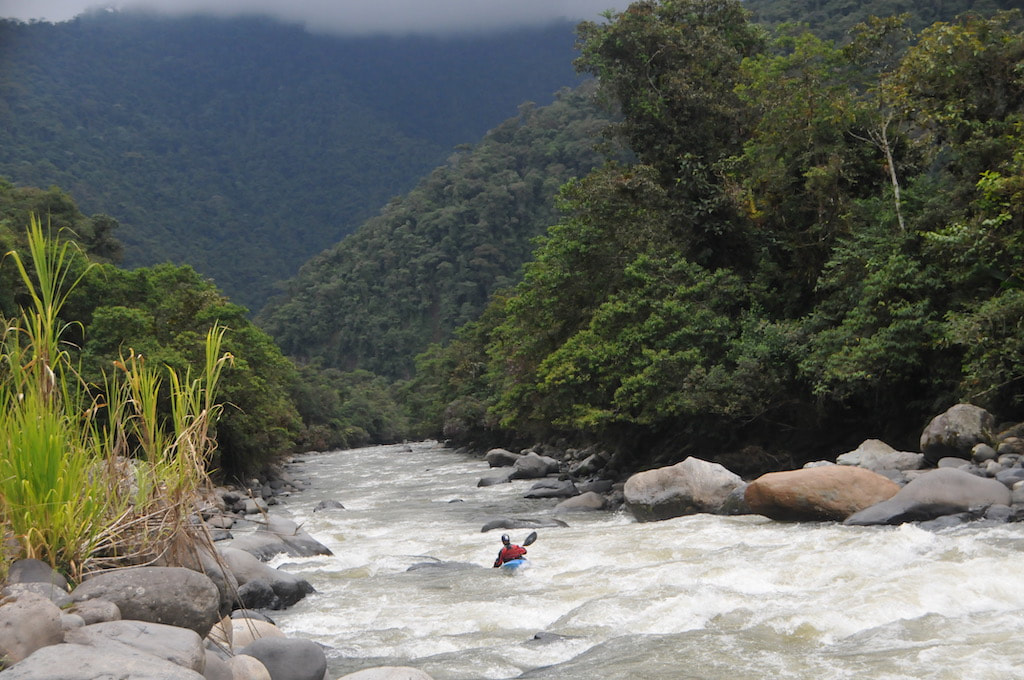 A beautiful vista on an Ecuadorian kayaking trip