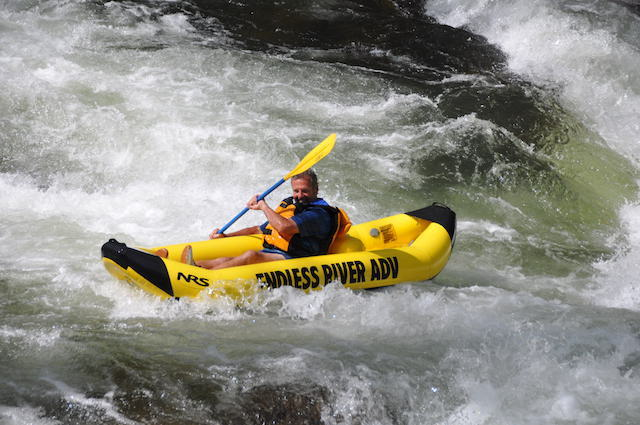 Duckys or Inflatable kayaks are a great option on the Nantahala