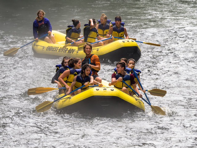 Guided and self-guided raft trips on the Nantahala River