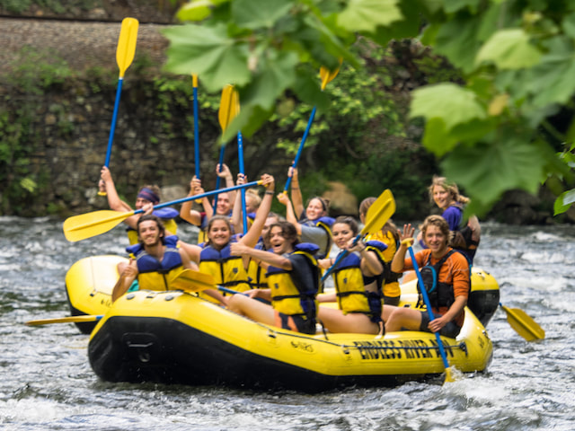Group rafting trips are the perfect way to have fun together
