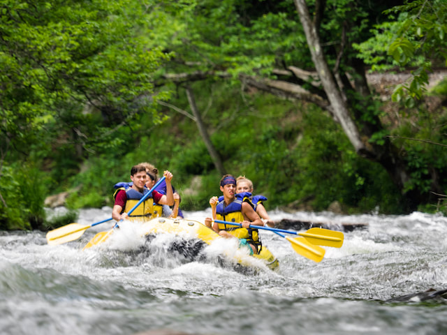 The minimum age for rafting on the Nantahala is seven years old
