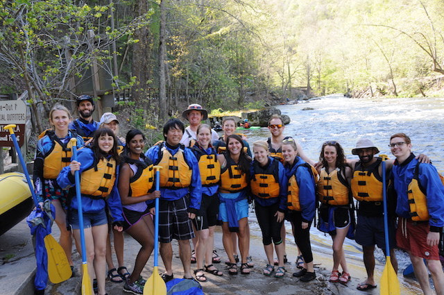 There is no better group outing than a rafting trip on the Nantahala River