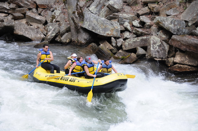 Fun things to do in Bryson City include rafting on the Nantahala River