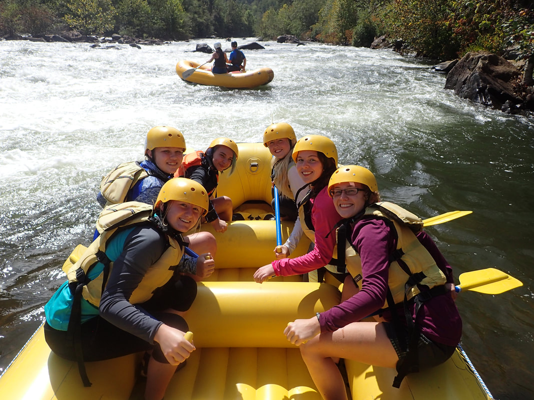 Fun day of rafting on the Ocoee